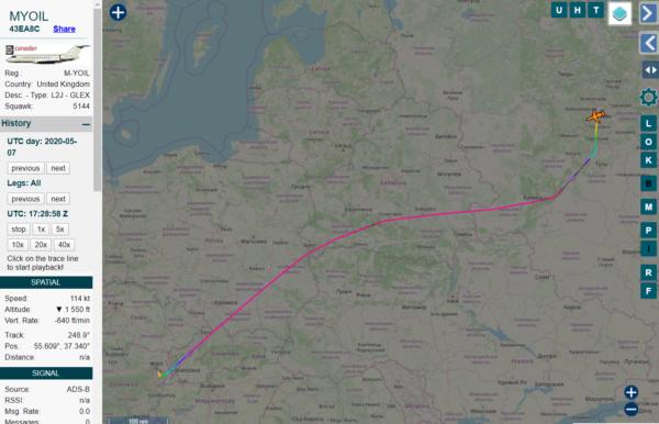 Самолет, которым пользуется Игорь Сечин, после трех дней простоя вВене вернулся вМоскву