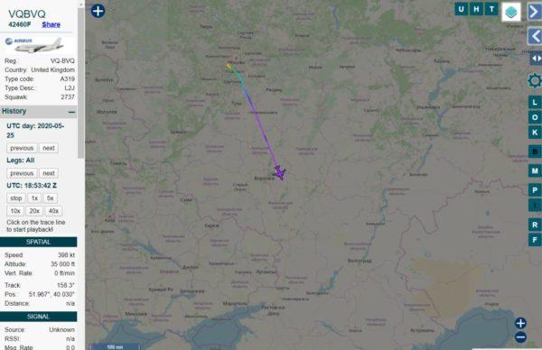 Связанный сКадыровым самолет вылетел изМосквы внаправлении Грозного