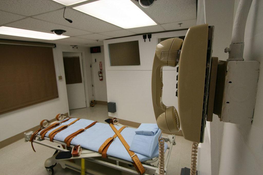 комната для смертной казни в тюрьме Флориды