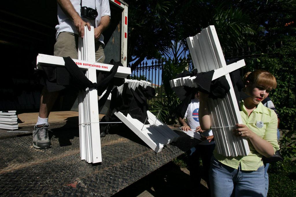 Акция протеста против смертной казни в США